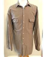 Polo Ralph Lauren Shirt Silk Blend Brown 2XLT Tall Geometric Button Down... - $39.55