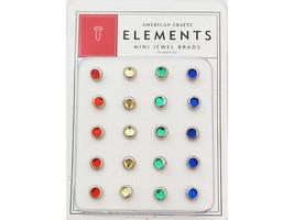 American Crafts Element Mini Jewel Brads #85270