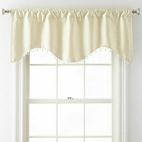 Primary image for NIP $50 PARCHEMENT  valance TOTAL WIDTH  50 x 21