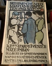 XRare 1902 George Walton Arts Crafts Exhibit Poster Budapest, Franklin-T... - $950.00