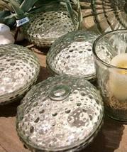 Pottery Barn Sea Urchin Glass Luminary Candleholder Coastal Decor Nautical - $44.44