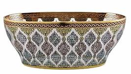 eWorldPartner Poetry Bowl Inspired by Handwritten Poetry Gondola 24 Carat Gold a - $919.81