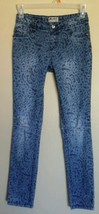 Mudd Denim Animal Print Distressed Stretch Skinny Straight Leg Jeans Gir... - $11.99