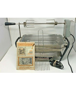 Farberware Electric OPEN HEARTH Model 450A Smokeless Indoor Grill Rotiss... - $118.70