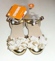 Gymboree Toddler Girls Gold Dress Shoes 4 5 6 7 8  NWT - $18.99