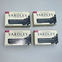 4 Yardley London Activated Charcoal Bath Bar Soap 4.25oz Each Fast Priority Ship - $17.75