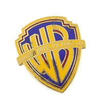 Warner Bros Insignia Enamel Lapel Pin Pinnacle Designs 1990s Vintage Rare! - $49.49