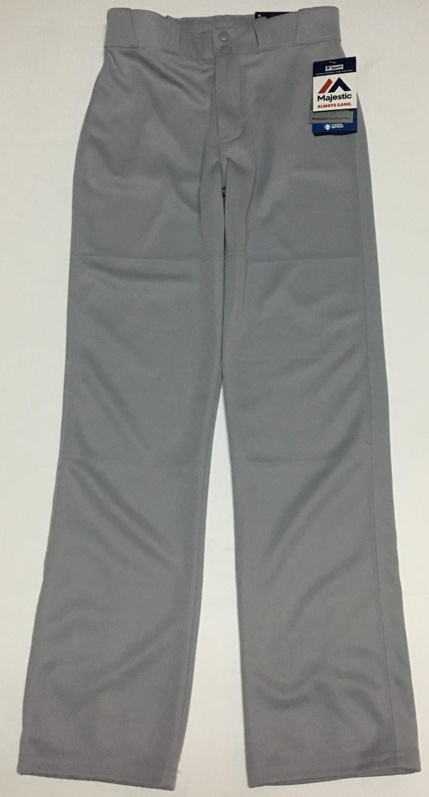 Majestic Gray Baseball Pants NWT Sz Youth M Boy's