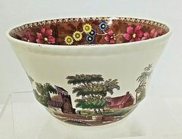 "Spode Copeland Delft Tower High Sided Cranberry Bowl 3"" x 5.5""  Spode's ... - $64.35"