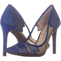 Jessica Simpson Camba Mesh Pointed Toe Pumps 627, Sheer New Cobalt Blue,... - $24.95