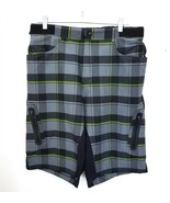 ZOIC Black Gray Mountain Bike Cycling Shorts Adjustable Waist Mens XL No... - $39.43