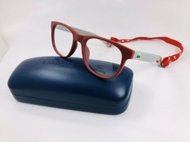 New LACOSTE KIDS L3621 615 Matte Red Eyeglasses 47mm with Case - $74.20