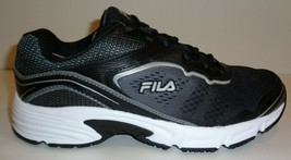 Fila Size 7 Memory Runtronic Slip Resistant Black Sneakers New Womens Shoes - $98.01