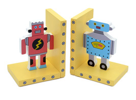 Creative Cartoon Robot Bookend Racks Book End Sets Bookshelf Display Org... - £43.02 GBP