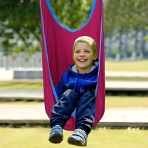 Hanging Seat For Kids Outdoor Swing Pod Children Hammock Chair With Straps Rose - $42.33