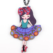 dance girl necklace pendant acrylic  2015 news accessories spring summer... - $13.56