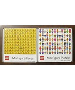2x Lot - LEGO MINIFIGURE and MINIFIGURE HEADS 1000 Pc Puzzles Chronicle ... - $34.65