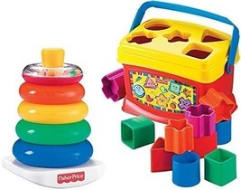 Fisher-Price Rock-a-Stack and Baby's 1st Blocks  Bundle  Babys Standard Toy - $103.30