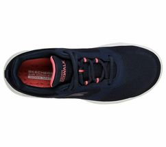 Skechers Navy Coral shoes Women Go Walk Comfort Mesh Casual Sporty Lace Up 15734 image 5