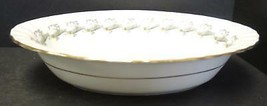 Oval Vegetable Bowl Minton China - Ermine Pattern - $7.98