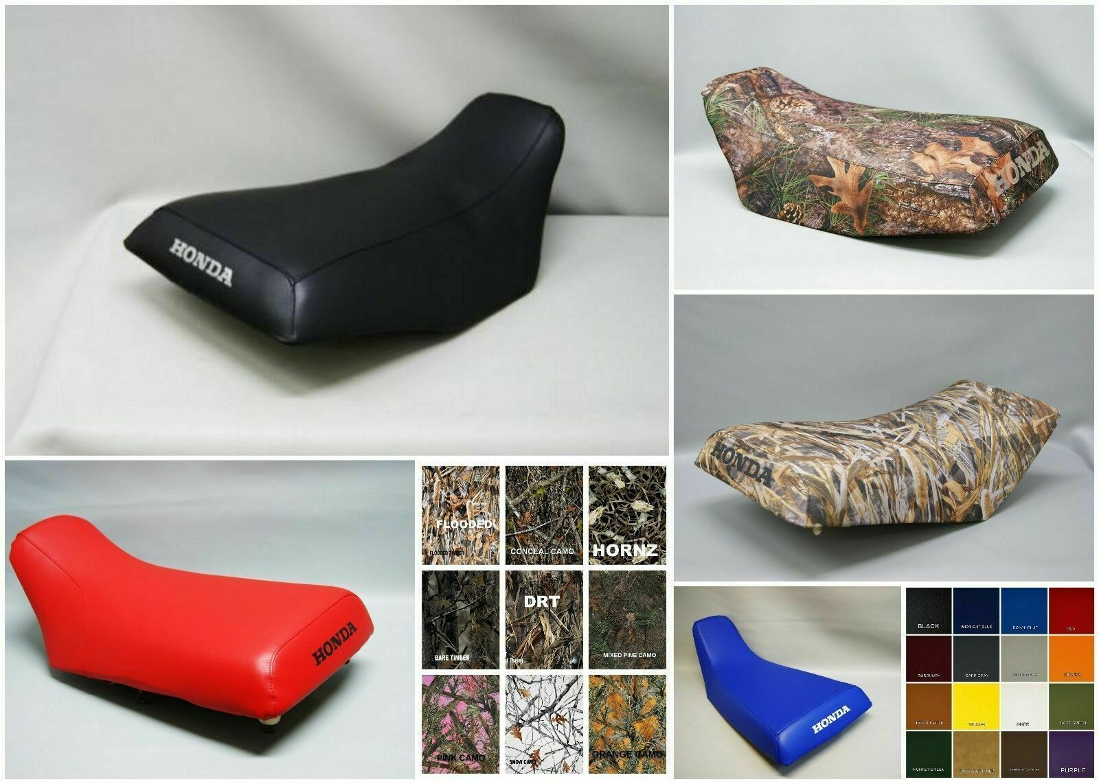 Primary image for HONDA TRX450 FOREMAN  Seat Cover 1998-2004  BLACK, CAMO, or 25 Colors (ST)