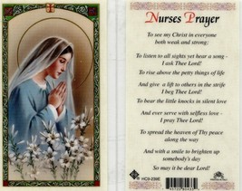 Nurses Prayer Card - EB880 - To See My Christ in Everyone Both Weak and ... - $2.79