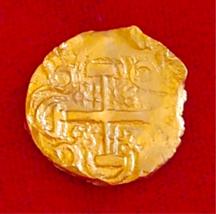 1715 FLEET  CANNON FIND! COLOMBIA 2 ESCUDOS PIRATE GOLD COINS SHIPWRECK ... - $9,950.00