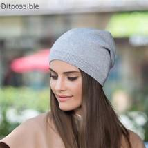 Knit Beanies Gorro Skullies Women's Girls Spring Autumn Bonnet Hat Solid - $31.80