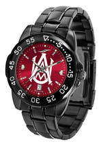 Alabama A&M Bulldogs Mens Watch Fantom Gunmetal Finish Red Dial - $67.50