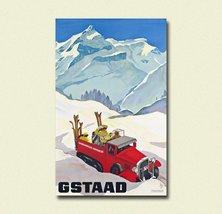 Gstaad Switzerland Print - Vintage Travel Poster Switzerland Poster Gsta... - $16.99+