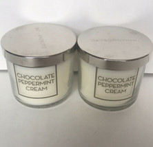 2 Bath & Body Works Chocolate Peppermint Cream Candle Home Fragrance 4 Oz - $28.91