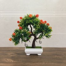 Artificial Fake Flowers Plastic Green Plants Bonsai Tree Desktopdecor Or... - $16.40