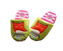 Green Fox Kids Slippers Fluzzy Warm Footwear, 3-6 Yrs
