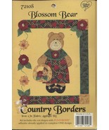 BLOSSOM BEAR 72108 Iron On Fabric Applique Craft Kit Country Borders NEW... - $10.10