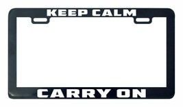 Keep Calm Carry On license plate frame tag - $5.99