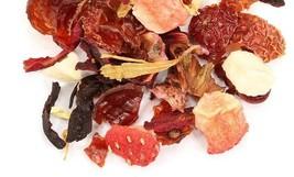 Fruit Medley herbal tea loose leaf 30 count tea bags  decaf with strawberries - $14.00