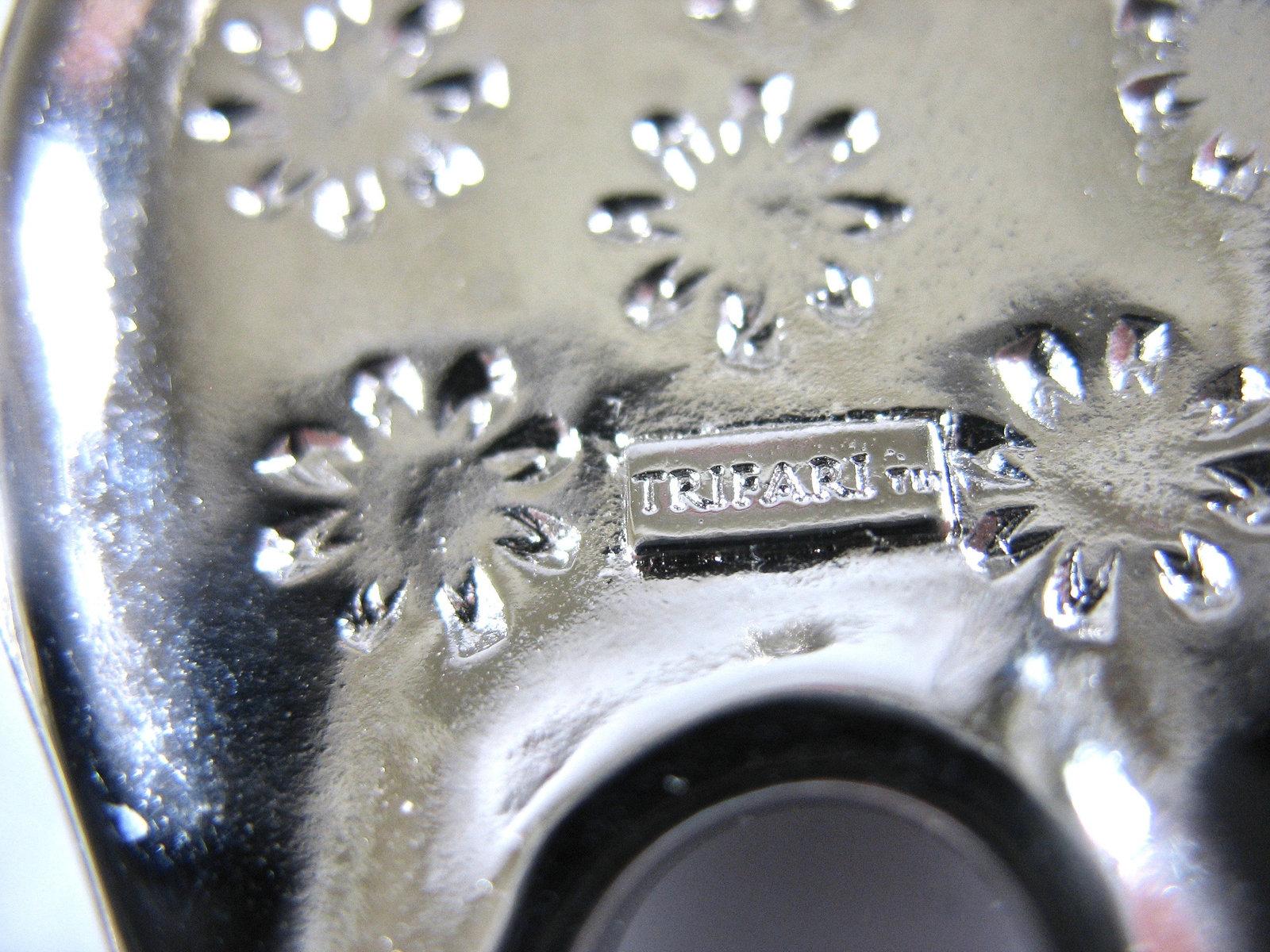 TRIFARI Spirit Bear Necklace, Large Pendant, Silver Tone, Long Chain, Southwest,