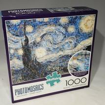 Buffalo Photomosaics Van Gogh Starry Night 1000 Piece Jigsaw Puzzle Comp... - $12.95
