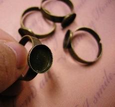 6pc antique bronze ring shanks-582 - $1.50