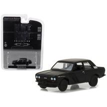1968 Datsun 510 Black Bandit Series 19 1/64 Diecast Model Car by Greenli... - $12.46