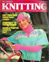 Modern Knitting for Machine Knitters Dec 1976 Magazine UK Knit Christmas... - $7.12