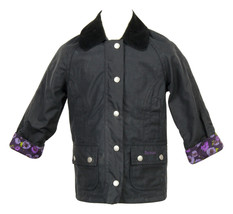 Crewcuts Girls' Barbour Printed Beadnell Jacket Navy Xxs 02389 - $147.19