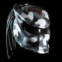Predator Helmet Motorcycle Motive Gray Camo Custom DOT / ECE Certified - $355.00