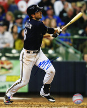 Ryan Braun Signed Milwaukee Brewers Swinging Action 8x10 Photo - $120.00