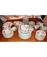 Meito Norleans Bone China  Rosanne Floral Set 75+ pc Vintage MINT photos... - $1,183.05