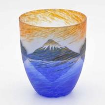 Japanese Beer glass ware Sakasa Mt.Fuji Japanese Uekoshi crystal Made in... - $56.18