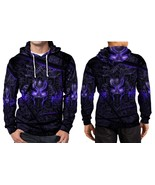 Black Panther Purple Neon Hoodie Fullprint Men - $44.99