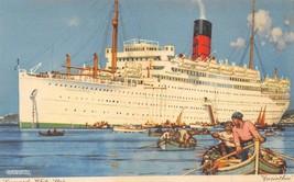 Corinthian Ocean Liner Ship Cunard White Star Line postcard - $5.89