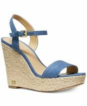 MICHAEL Michael Kors Jill Wedge Sandals Light Denim Mult Size - $99.99