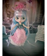 BLYTHE DOLL- BJD CLONE CUSTOMIZED WHITE MATTE FINISH WITH DRESS W/HAT, S... - $128.65